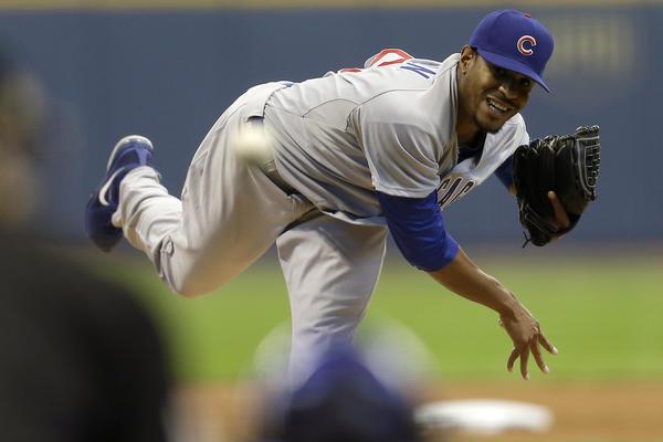 Chicago Cubs pitcher Edwin Jackson.