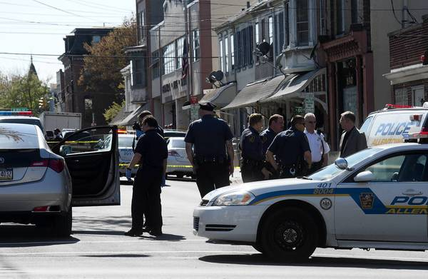 Allentown police said several gunshots were fired Thursday afternoon at Seventh and Chew streets.