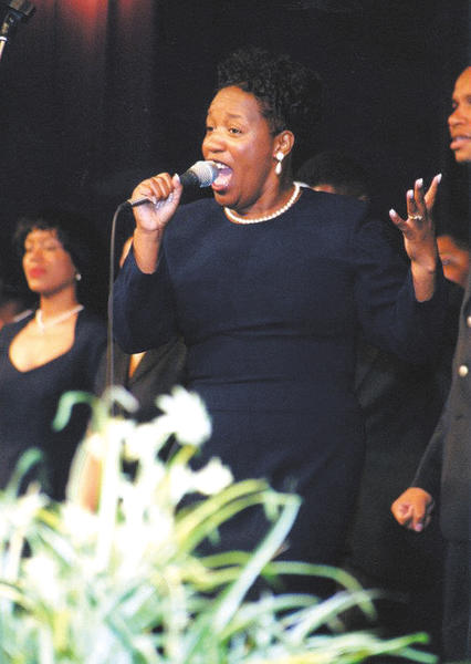 Psalmist Karen King will appear Sunday at Second Christian Church.