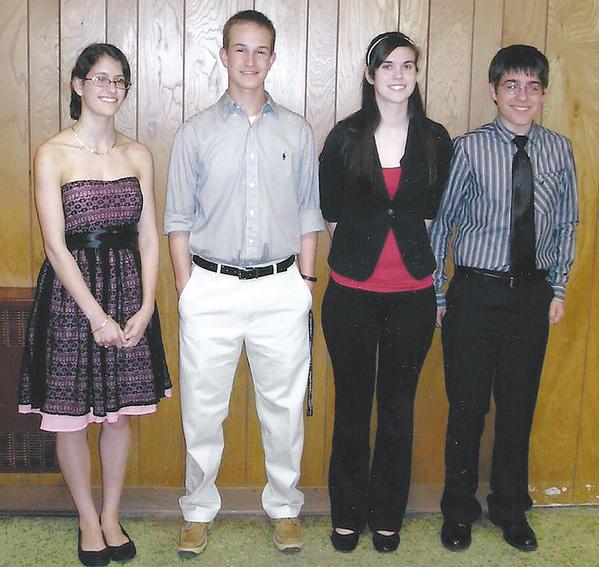 Maugansville Ruritan Scholarship winners are, from left, Allison Nicole Martin, John Britton III, Kirstie Coombs and Kyle Martin.