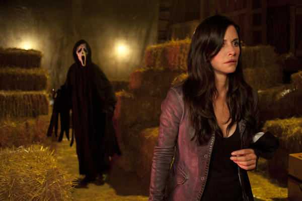 "Courteney Cox is shown in a scene from the horror film ""Scream 4."" MTV says it will produce a pilot for a TV-series adaptation of the wildly popular slasher films."