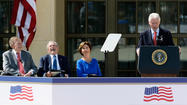 George W. Bush Library dedication