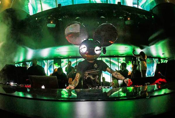 Deadmau5 performs at the preview weekend of Hakkasan Mega-Club at MGM Grand Hotel & Casino.