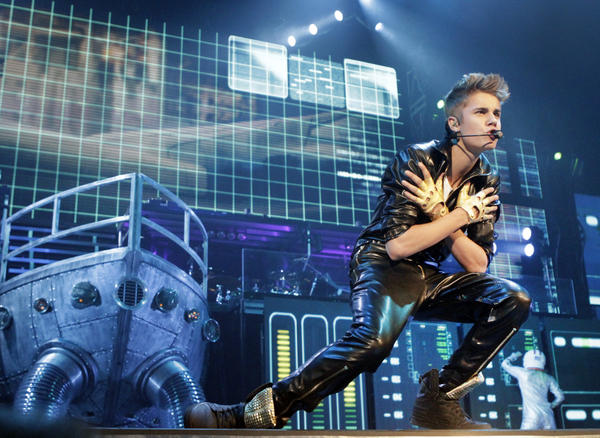 Justin Bieber at Staples Center on Oct. 2, 2012.