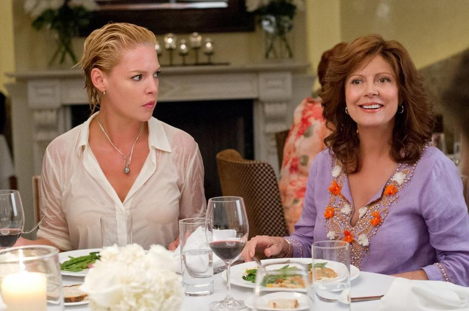 "Katherine Heigl, left, as Lyla and Susan Sarandon as Bebe ""The Big Wedding."""