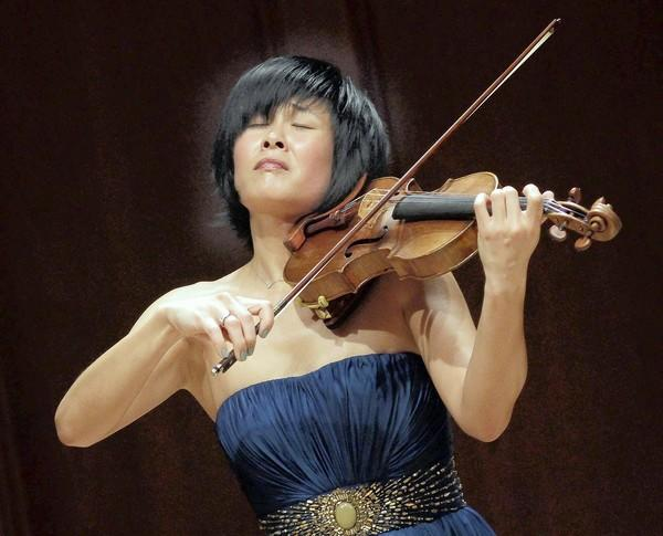 "Jennifer Koh, violin soloist in her ""Bach and Beyond Part II"" recital at Hahn Hall, Music Academy of the West, in Montecito on April 24, 2013."
