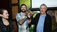 Robert De Niro and cat Lil Bub attend the Directors Brunch during the 2013 Tribeca Film Festival in New York City.