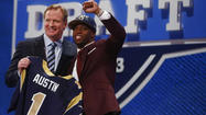 Representing Dunbar High with a maroon suit and maroon tie, Tavon Austin strolled into Radio City Music Hall around 7 p.m. Thursday night to see his lifelong dream fulfilled.