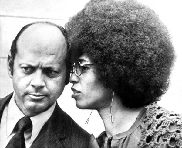 Angela Davis with Attorney Leo Branton