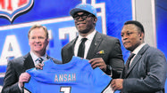NEW YORK -- The Detroit Lions made a sizeable wager that one of the draft's biggest boom-or-bust prospects will hit it big.