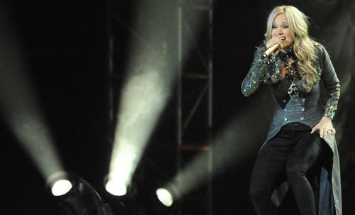 """Country Star and American Idol winner Carrie Underwood brought her """"Play On Tour"""" to Baltimore's <a href="""" http://findlocal.baltimoresun.com/listings/1st-mariner-arena-baltimore"""">1st Mariner Arena</a> Nov. 16."""