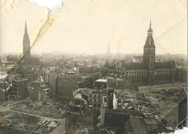 In 1947 when she first began corresponding with a young man in Germany, Helen Fortney, of East Jordan, received this photo. It shows Hamburg, where the young man lived, ravaged by World War II. The two, now in their 80s, have been life-long pen pals and continue to write to one another.
