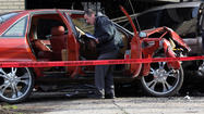 A man who crashed into a parked van and garage after being shot while driving in the West Pullman neighborhood has died from his injuries, officials said.