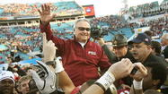 TALLAHASSEE -- Guess who's coming back? Bobby Bowden, Florida State's Hall of Fame former head coach, will end his FSU absence. After four years of staying away from Doak Campbell Stadium to allow current coach Jimbo Fisher to lead the Seminoles, Bowden will make his long-anticipated return this fall.