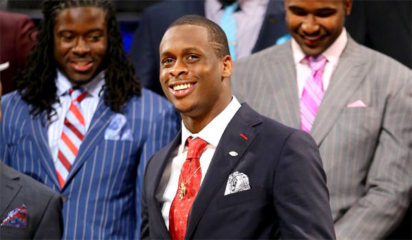West Virginia quarterback Geno Smith was expected to be chosen in the first round of the 2013 NFL Draft, but at the end of the night he was still waiting for his call in the green room.