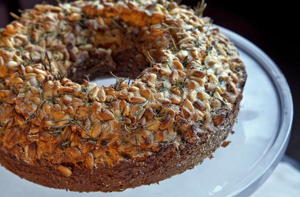 Dario's olive oil cake, an olive oil bundt cake, from Nancy Silverton.