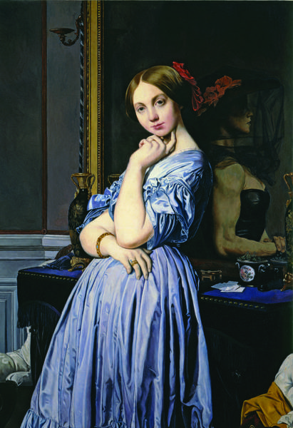 "Bruce Museum, One Museum Drive in Greenwich, will show ""Revised and Restored: The Art of Kathleen Gilje,"" focusing on her parodies of Old Master paintings, from May 11, to Sept. 8. shown here is her painting of Comtesse d'Haussonville."