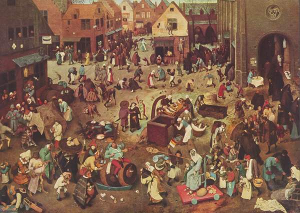 "Can you spot the pretzels? Pieter Bruegel created ""The Fight Between Carnival and Lent"" in 1559."