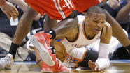 "<a href=""75661323"">Oklahoma City Thunder</a> guard <a href=""#"" data-topic-id=""PESPT0000010913"">Russell Westbrook</a> is out indefinitely and will undergo surgery for a torn meniscus in his right knee, the team announced Friday."