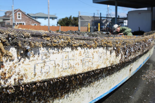 A 20-foot fishing boat that washed up in Crescent City earlier this month was confirmed to be the first piece of debris from the 2011 Japan tsunami to land on California shores.