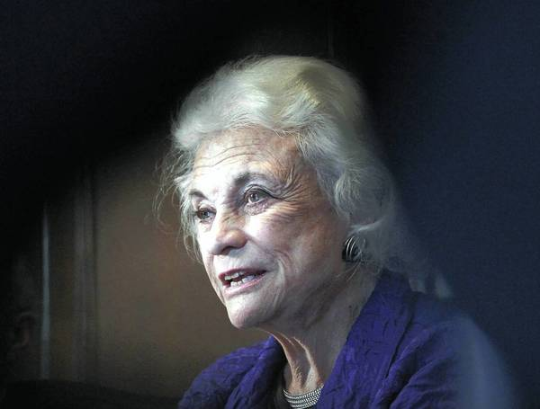 Former U.S. Supreme Court Justice Sandra Day O'Connor answers questions from the Chicago Tribune Editorial Board.