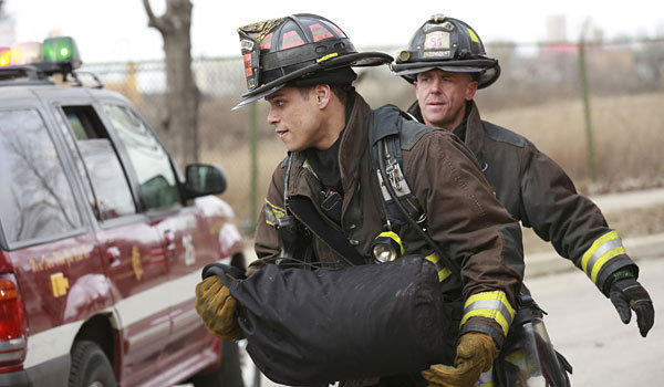 """Chicago Fire"" stars Charlie Barnett, left, and David Eigenberg."