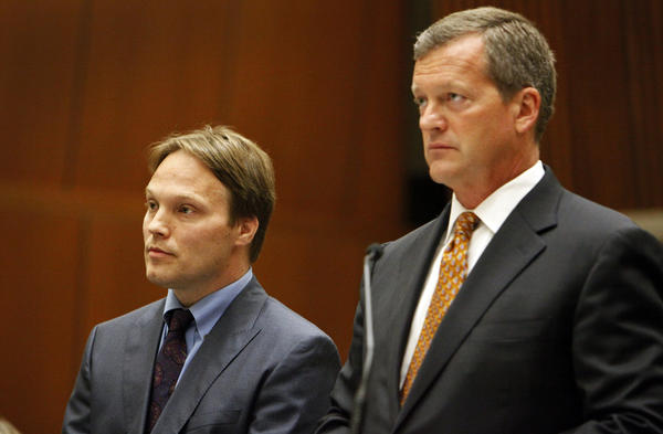 Patrick Harran, left, a UCLA organic chemistry professor, is charged in connection with a laboratory fire that killed a staff research assistant at UCLA in December 2008. Harran was ordered to stand trial.