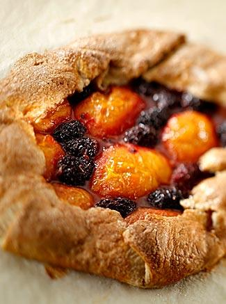Apricot boysenberry tarts