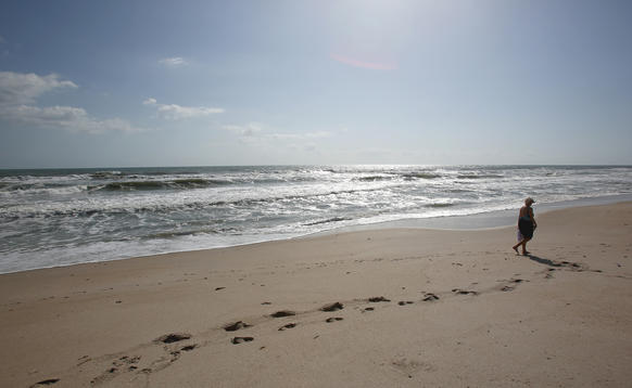 Playalinda Beach inside of Canaveral National Seashore on April 23, 2013.