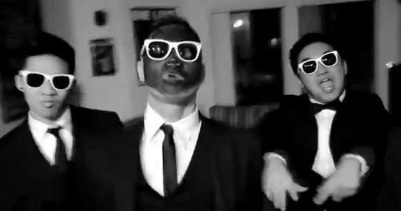 "A Lambda Theta Delta fraternity member dons blackface in a lip-syncing music video to Justin Timberlake and Jay-Z's song ""Suit and Tie."""