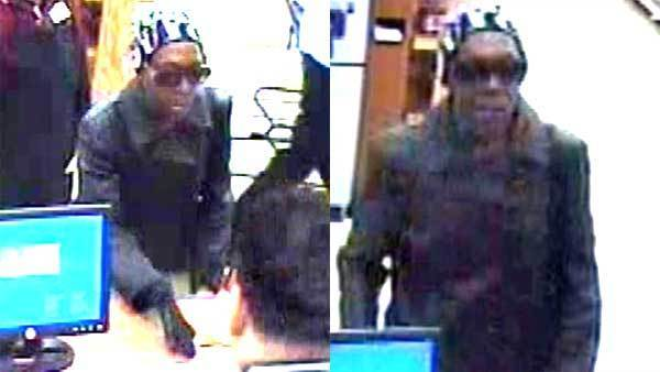 Surveillance photos of a woman who robbed a TCF Bank branch at 5343 N. Broadway.