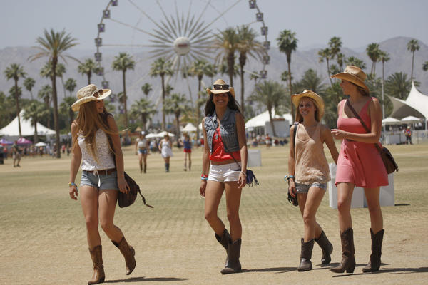 A scene from the Stagecoach Festival at the Empire Polo Club in Indio on Friday.