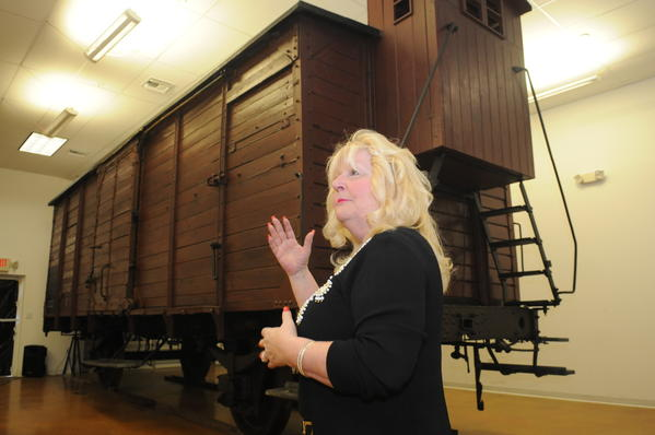 Rositta Kenigsberg says the Nazis used rail cars like this one to transport Holocaust victims.