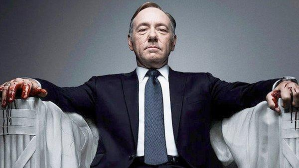 "Kevin Spacey from the Netflix original series, ""House of Cards,"" an adaptation of a British classic."