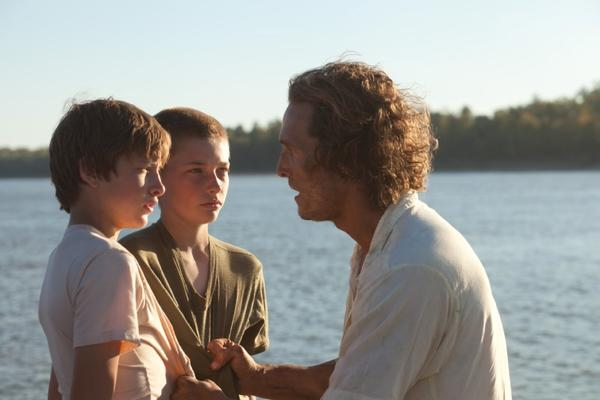 "Tye Sheridan, from left, Jacob Lofland and Matthew McConaugheyin a scene from ""Mud."""