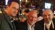 """Top Chef"" host Tom Colicchio stopped by Heavy Seas Alehouse on Friday afternoon with his new fishing buddy, the actor Josh Charles."