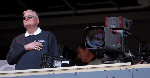 "White Sox broadcaster Ken ""Hawk"" Harrelson (Chris Sweda/Tribune Photo)"