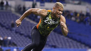 "Tyrann Mathieu, Louisiana State's big-play defensive back known as the ""Honey Badger,"" will join former Tigers stars Patrick Peterson and Kevin Minter in Arizona after the Cardinals used a third-round pick on the troubled star Friday."