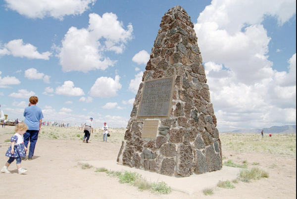 The Trinity Site in New Mexico, where the first atomic bomb was detonated, is open two days a year to the public.