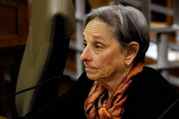 Sharon Levine, president of the Medical Board of California, testifies at legislative hearing in March. This week, a member of the board told her she should talk to the Legislature personally about the board's plans for reform.