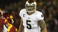 Manti Te'o's adrenaline overtook his hearing when the phone call finally came, and he never did catch the name of the person who told the All-America linebacker he would start his post-Notre Dame football career in San Diego.