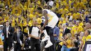 OAKLAND, Calif. -- Stephen Curry's two free throws with 1:54 to go gave Golden State a six-point lead and the Warriors held off the Denver Nuggets in a fast-and-furious finish to win 110-108 on Friday night and take a 2-1 lead in the best-of-7 Western Conference playoff series.