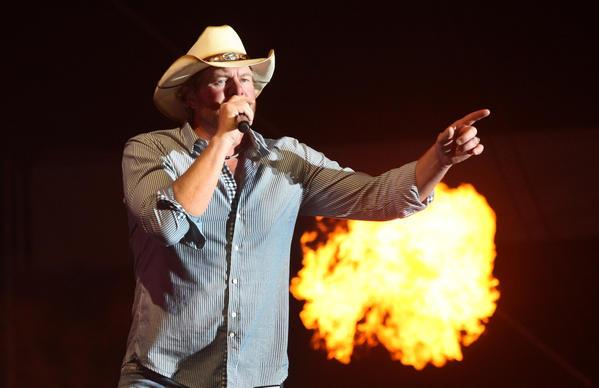 Toby Keith performs Friday night at the Stagecoach Festival in Indio.