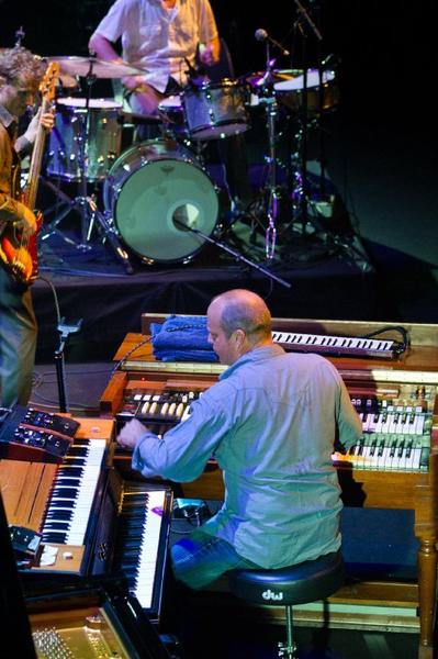 Chris Wood, left, Billy Martin and John Medeski perform during the Festival Jazz A La Villette in 2011.