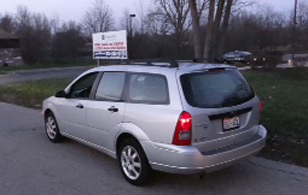 A Ford wagon Antioch police said was being driven by Benedictine monk Thomas M. Chmura when he attempted to lure a 14-year-old girl.