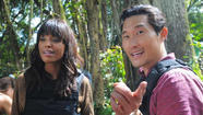 "Aisha Tyler, left, and Daniel Dae Kim in ""Hawaii Five-O"" on CBS"