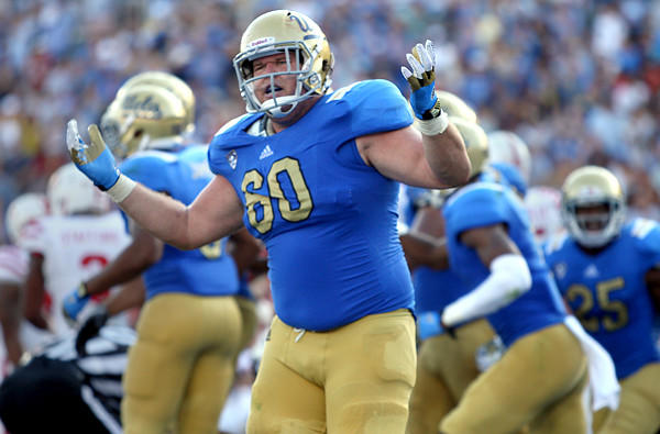 UCLA offensive guard Jeff Baca, who is 6-foot-3 and 302 pounds, will add some depth for the Vikings, who lost veteran Geoff Schwartz to the Kansas City Chiefs.