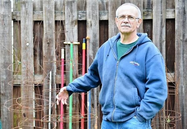 On The Cheap tipster Barry Donchez salvaged bent tomato cages from the recycling center and uses them for beans and other plants.