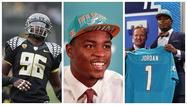 DAVIE — Dolphins defensive end Dion Jordan, the first-round pick from Oregon, has a world of expectations on his shoulders. But you'd never know by talking to him.