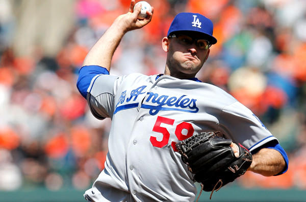 Dodgers starting pitcher Stephen Fife made his debut last Sunday against the Orioles last week, giving up seven hits and four runs in 4 2/3 innings.